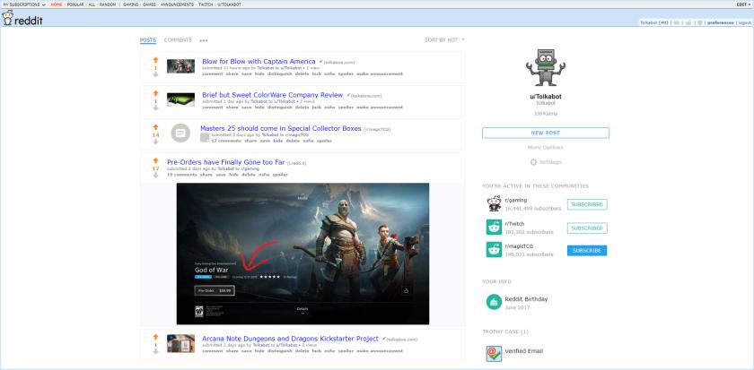 Tolkabot Reddit Profile with Border